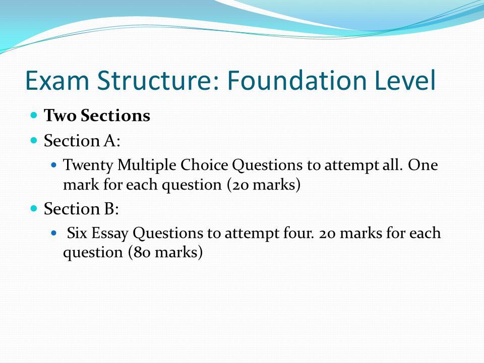 Exam Structure: Foundation Level
