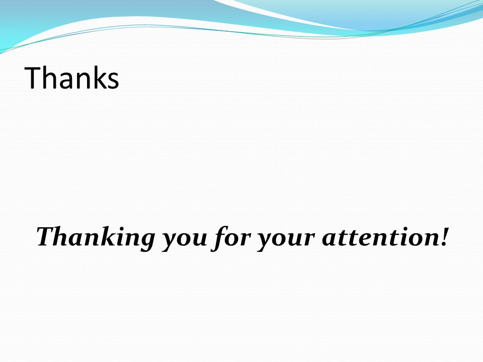 Thanking you for your attention!