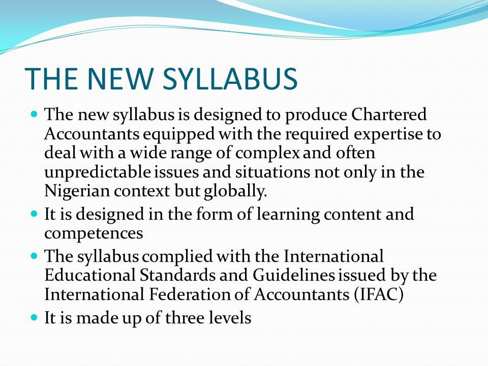 THE NEW SYLLABUS