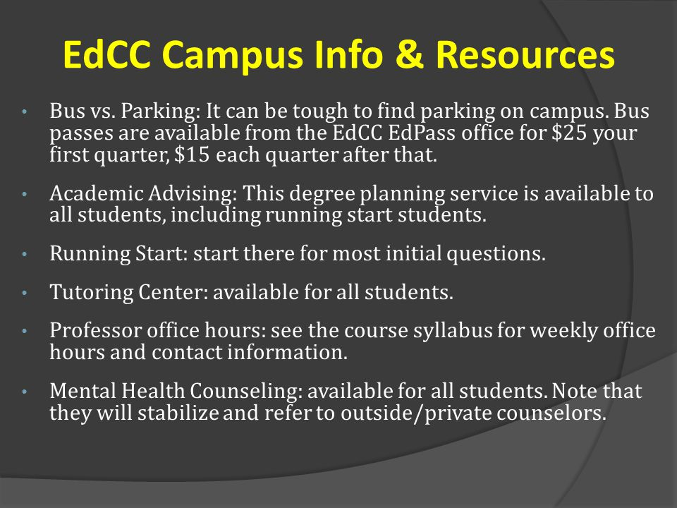 EdCC Campus Info & Resources