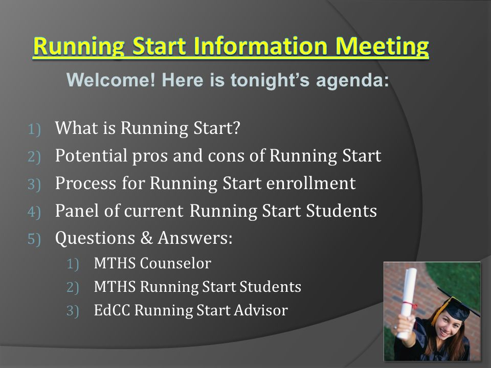 Running Start Information Meeting