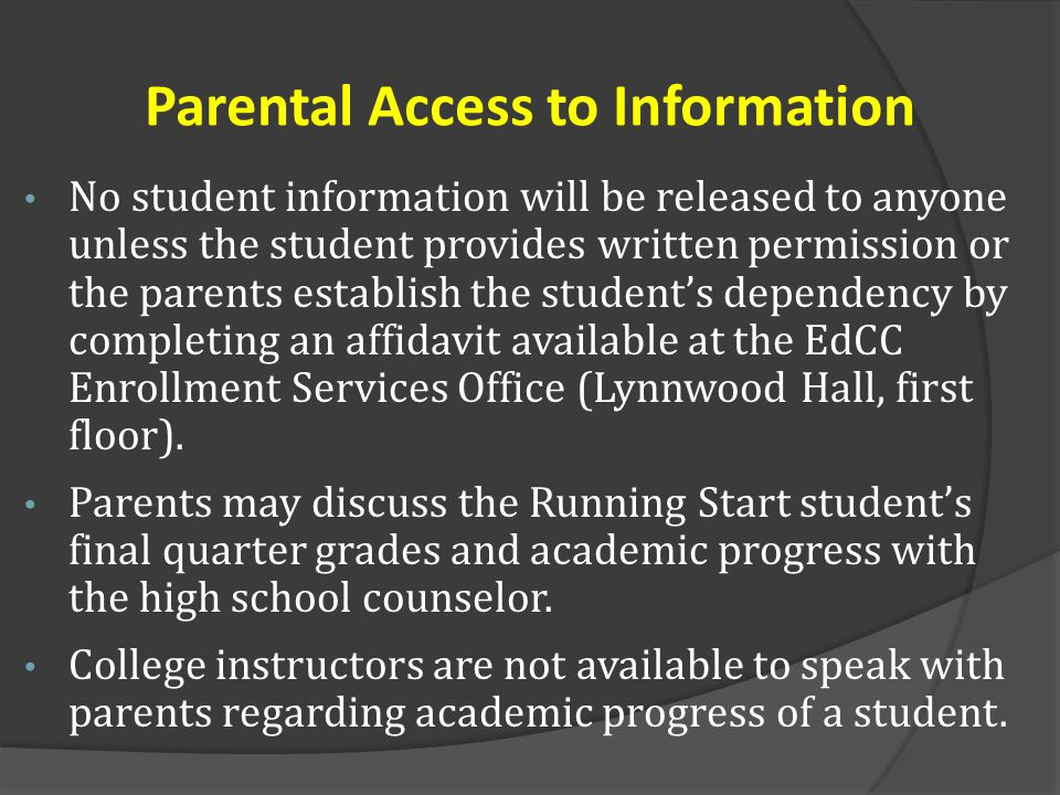 Parental Access to Information