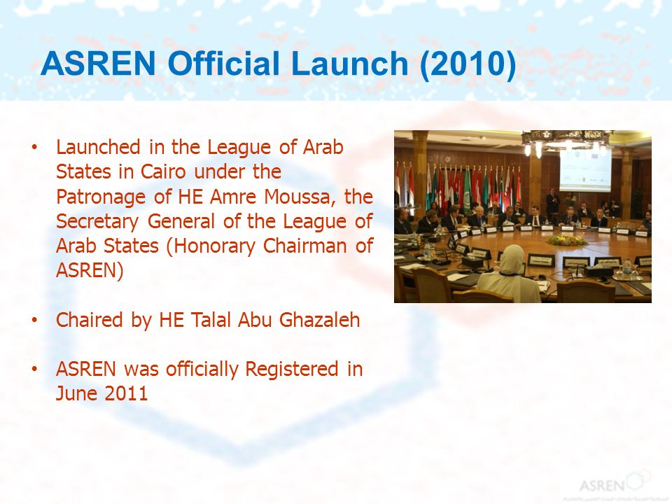 ASREN Official Launch (2010)