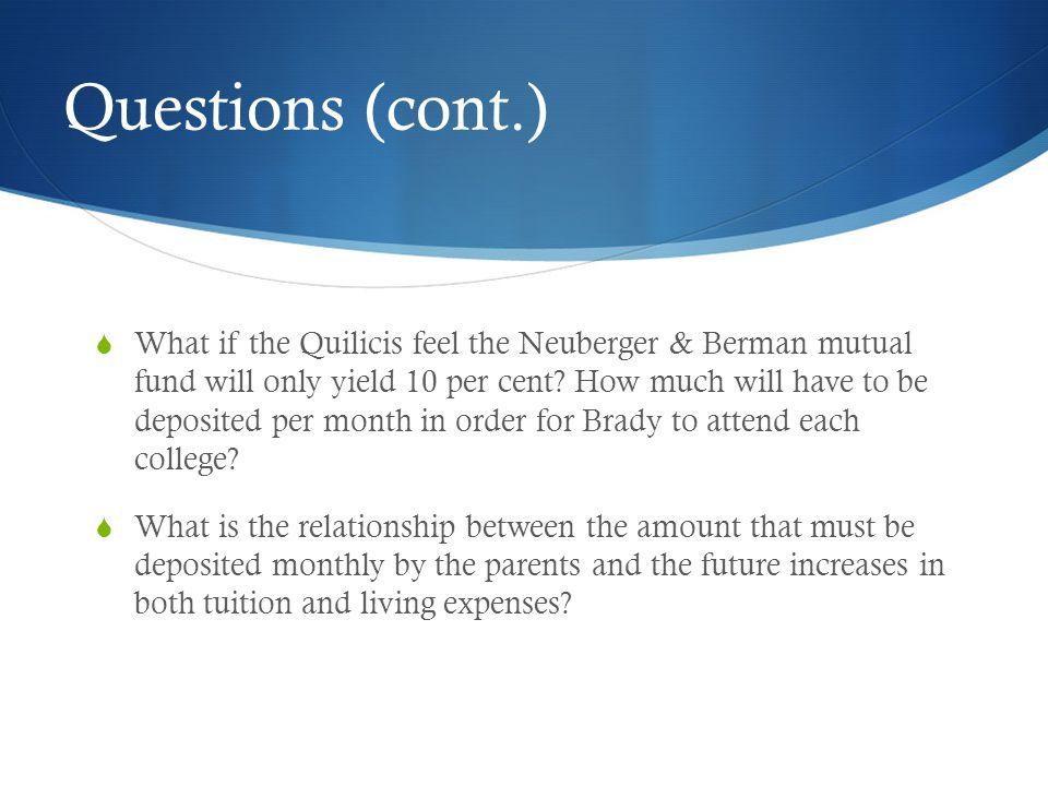 Questions (cont.)