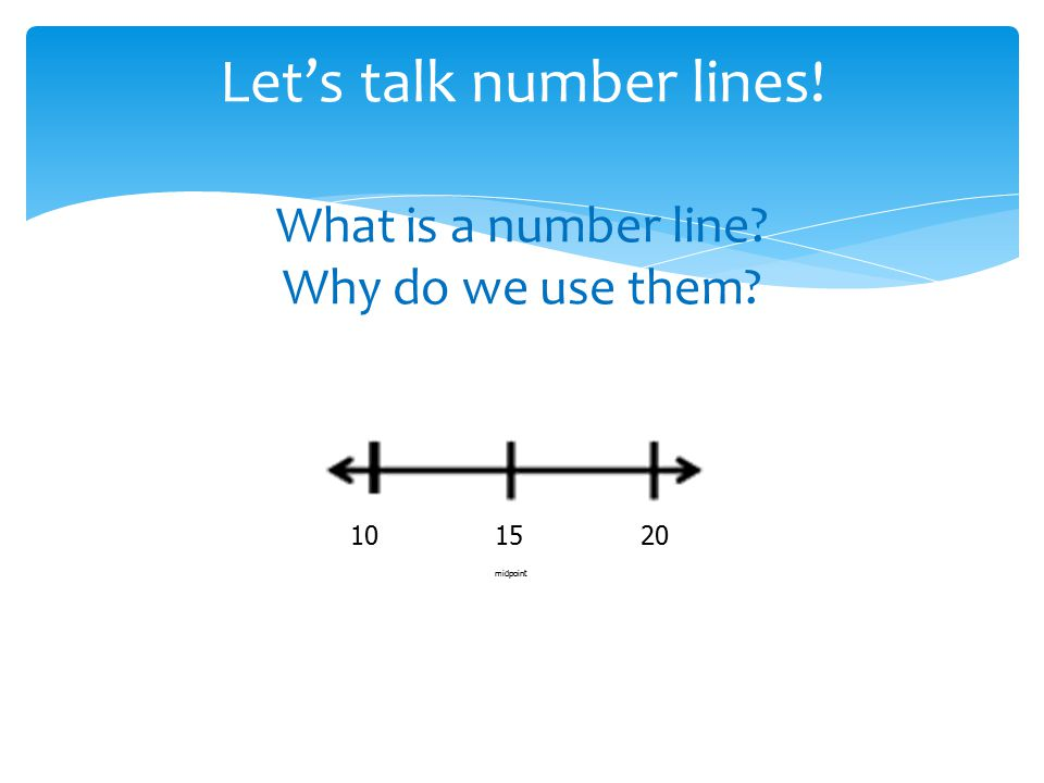 Let's talk number lines! What is a number line Why do we use them