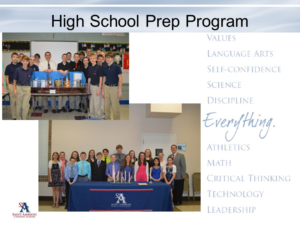 High School Prep Program