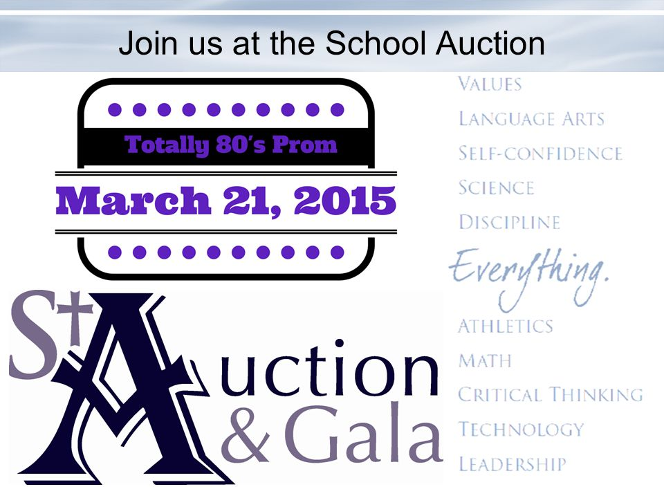 Join us at the School Auction