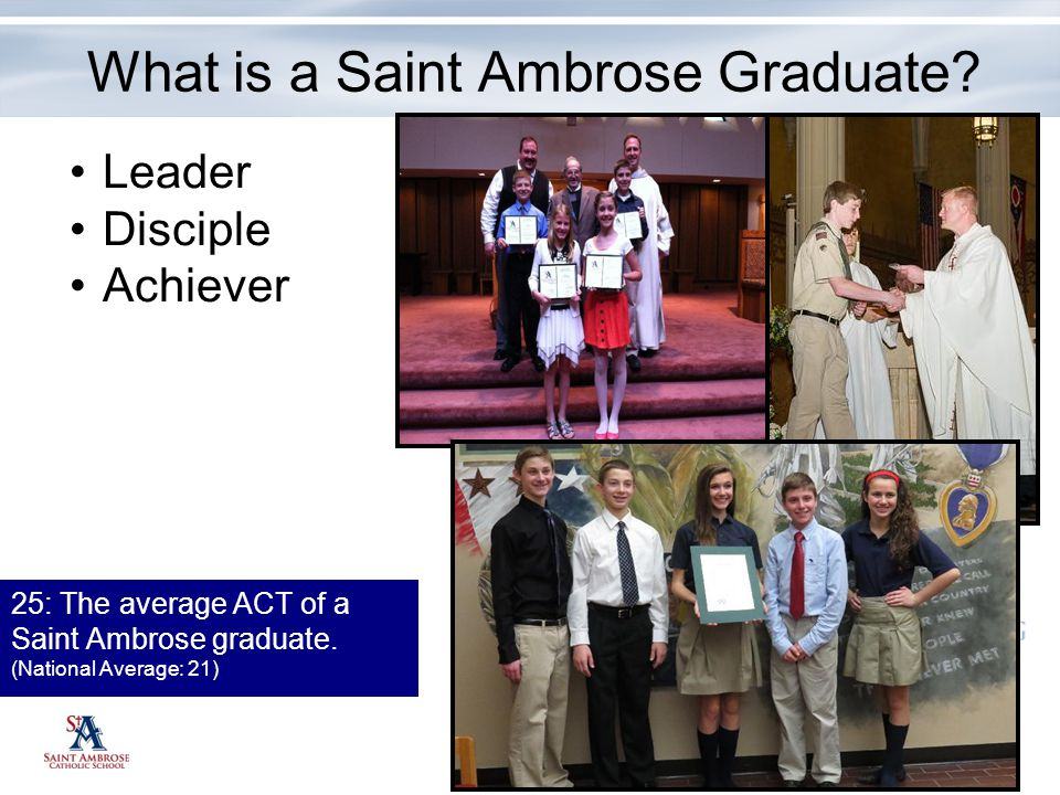 What is a Saint Ambrose Graduate
