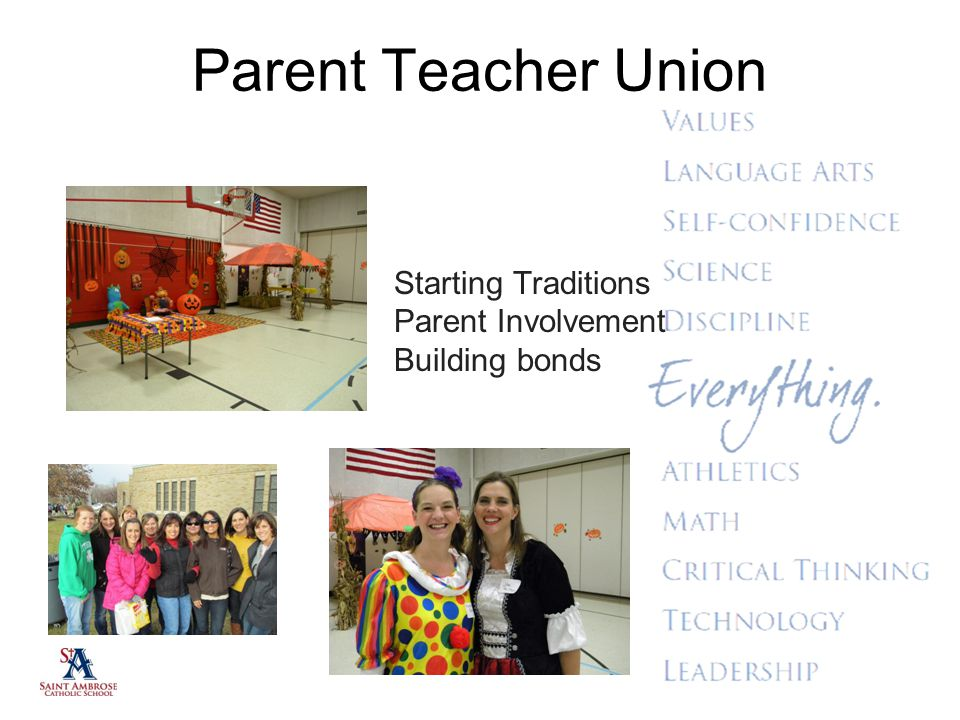 Parent Teacher Union Starting Traditions Parent Involvement
