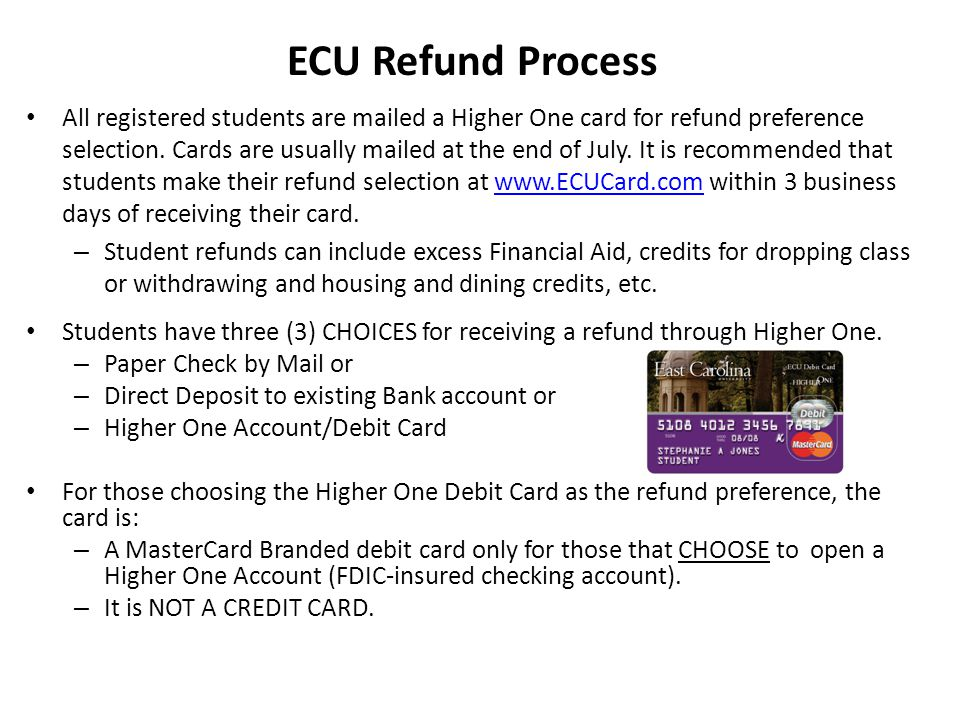 ECU Refund Process