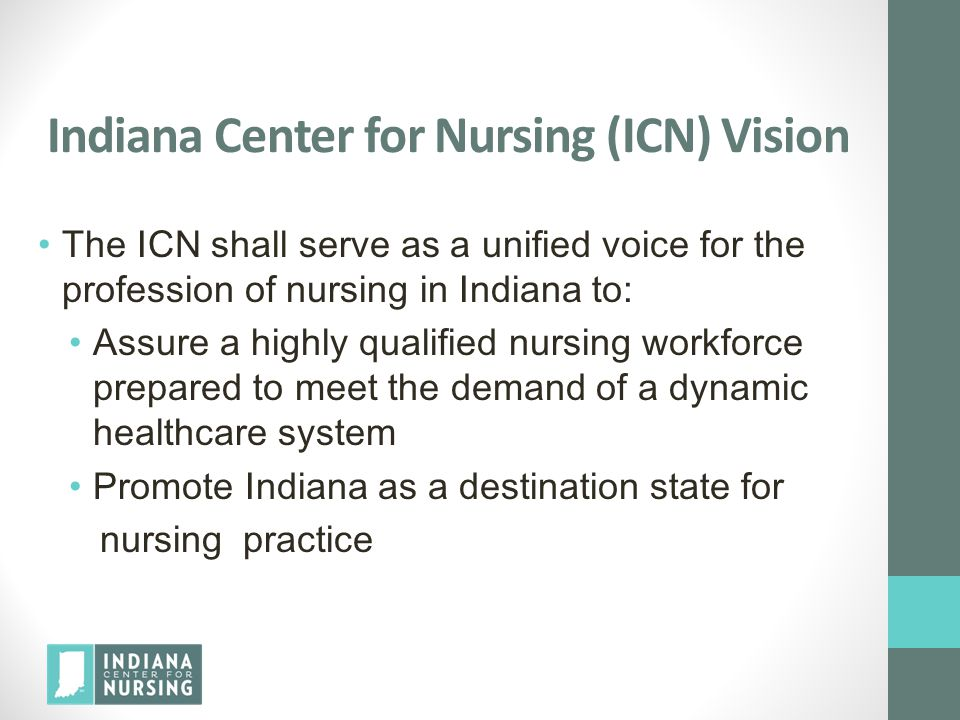 Indiana Center for Nursing (ICN) Vision