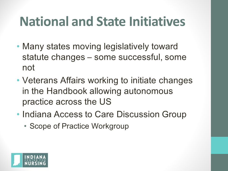 National and State Initiatives