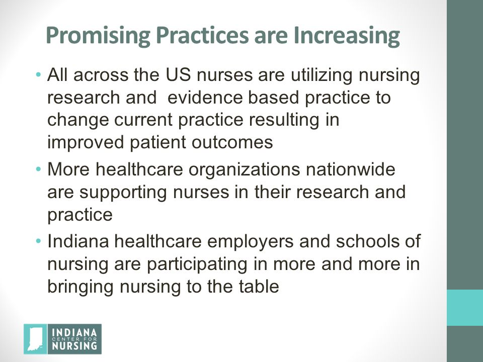 Promising Practices are Increasing