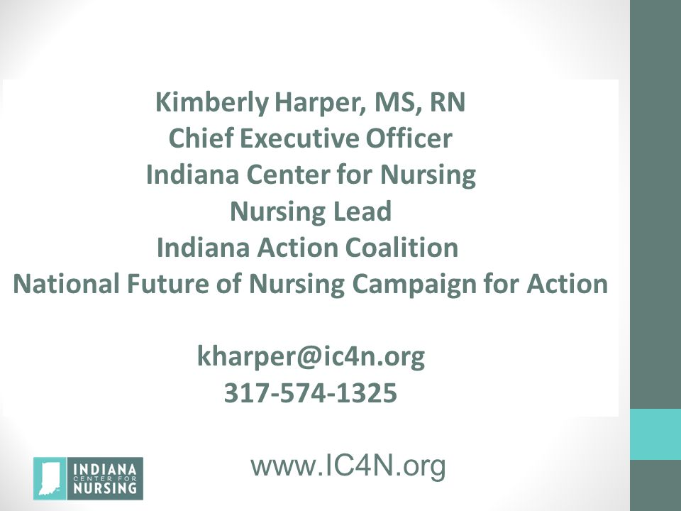 Chief Executive Officer Indiana Center for Nursing Nursing Lead