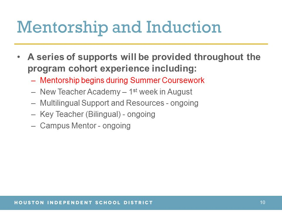Mentorship and Induction