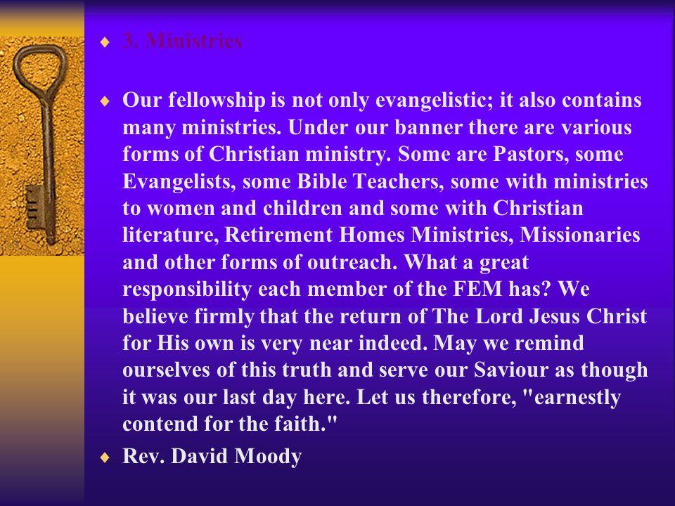 3. Ministries