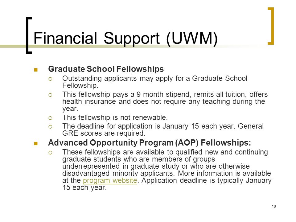 Financial Support (UWM)