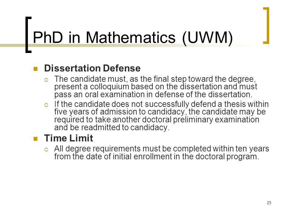 Phd dissertation mathematics education