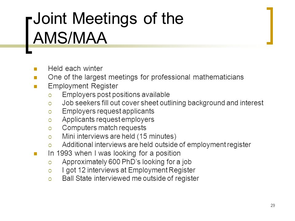 Joint Meetings of the AMS/MAA