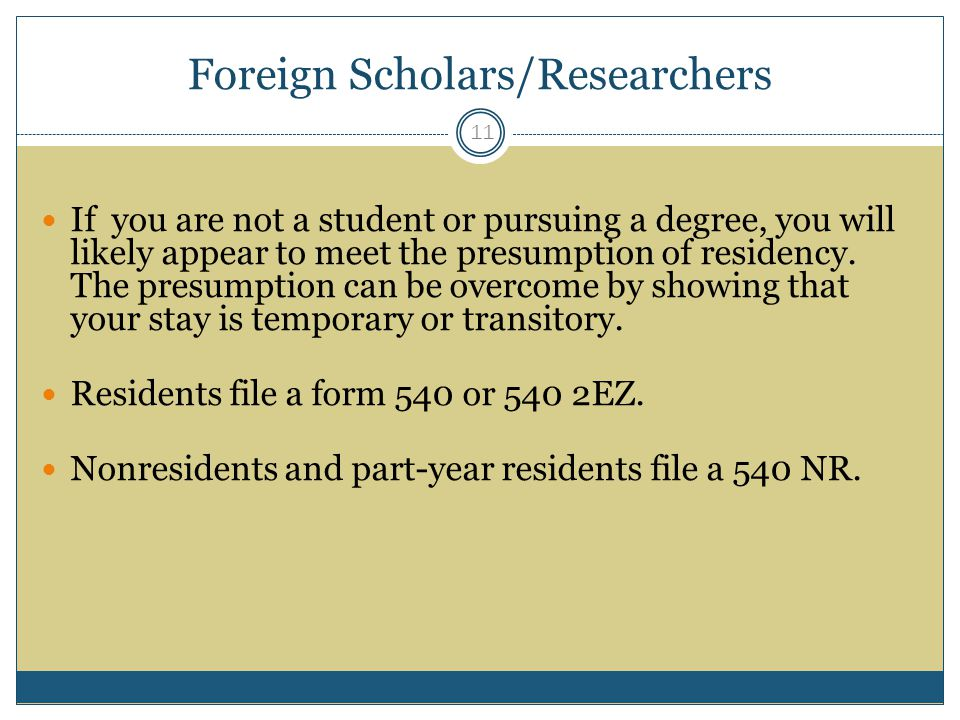 Foreign Scholars/Researchers