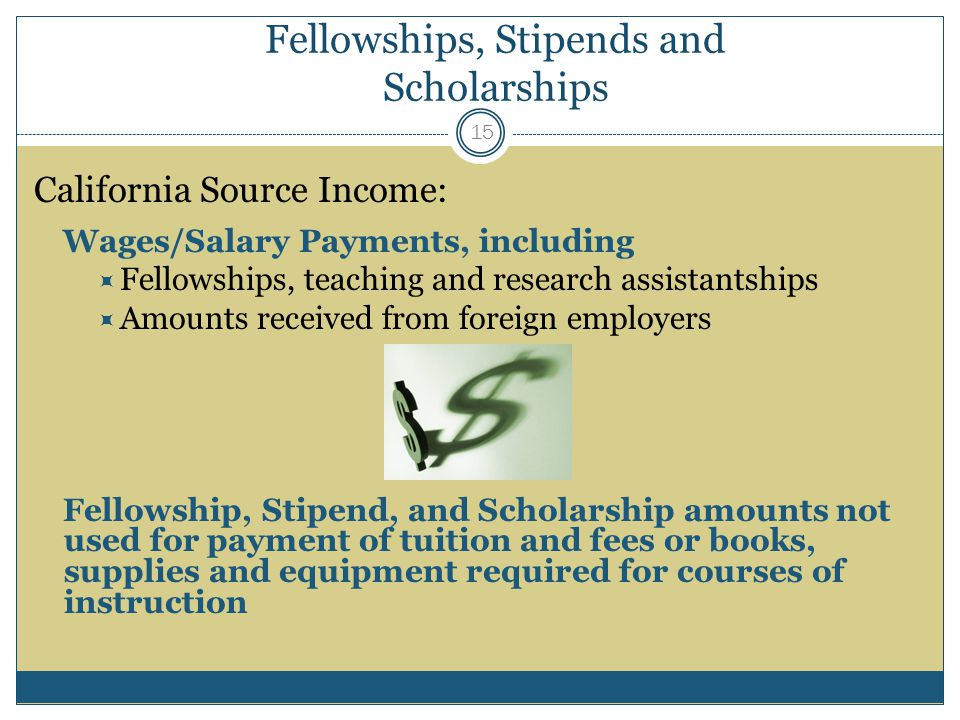 Fellowships, Stipends and Scholarships