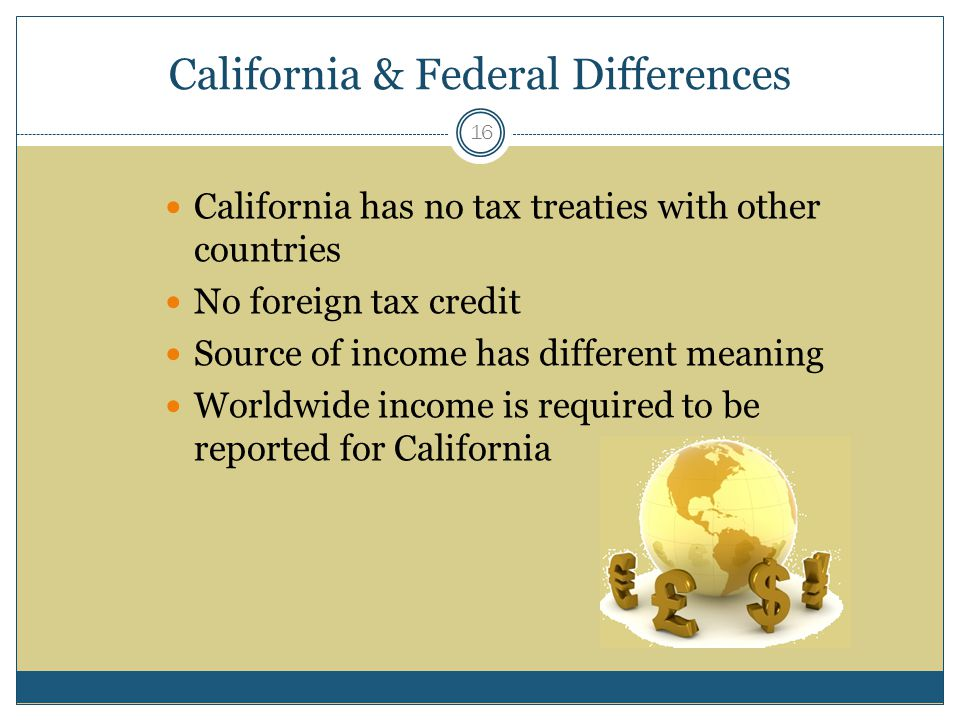 California & Federal Differences