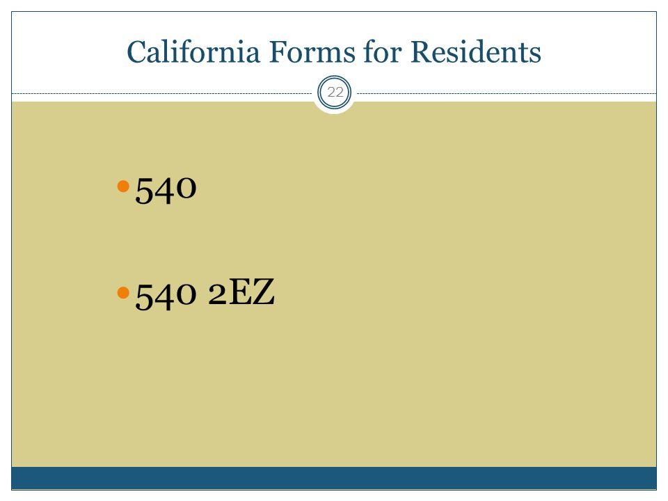 California Forms for Residents