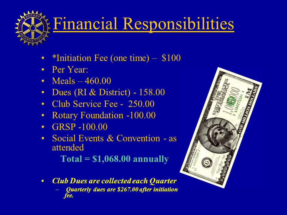 Financial Responsibilities