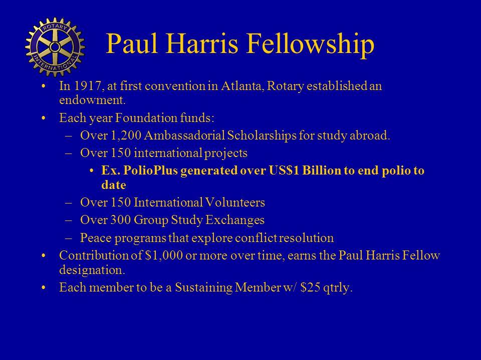 Paul Harris Fellowship