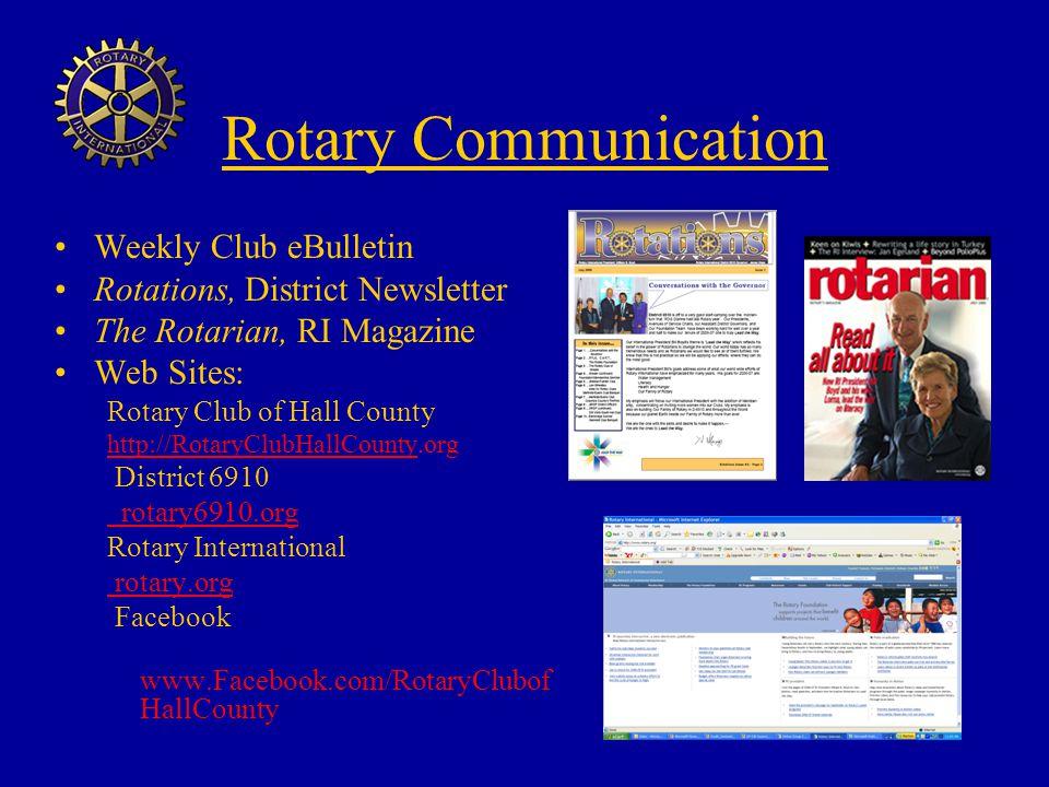 Rotary Communication Weekly Club eBulletin
