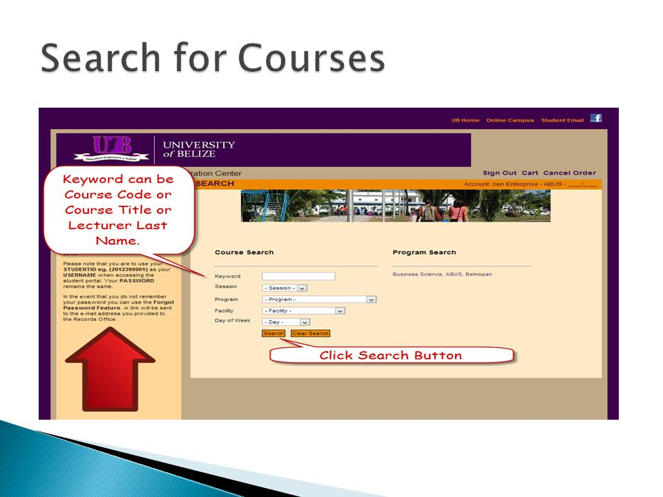 Search for Courses