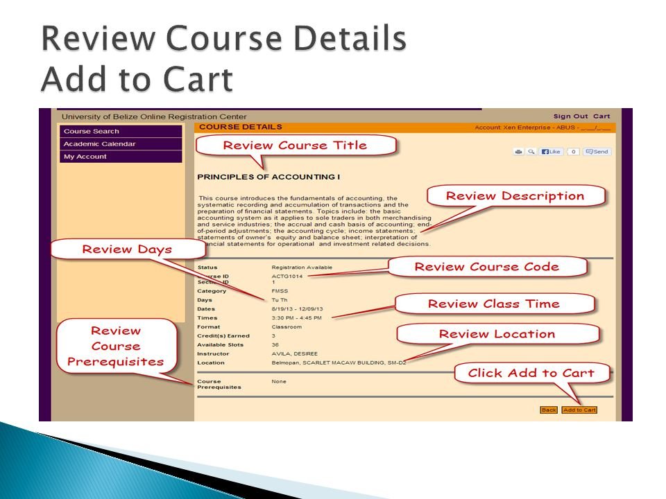 Review Course Details Add to Cart