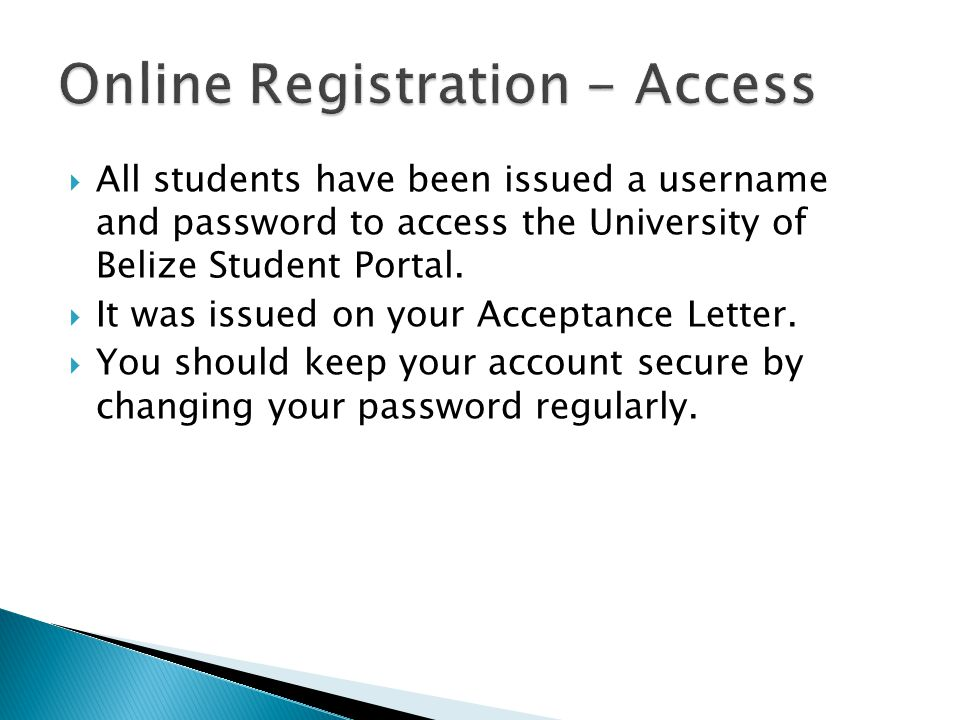 Online Registration - Access