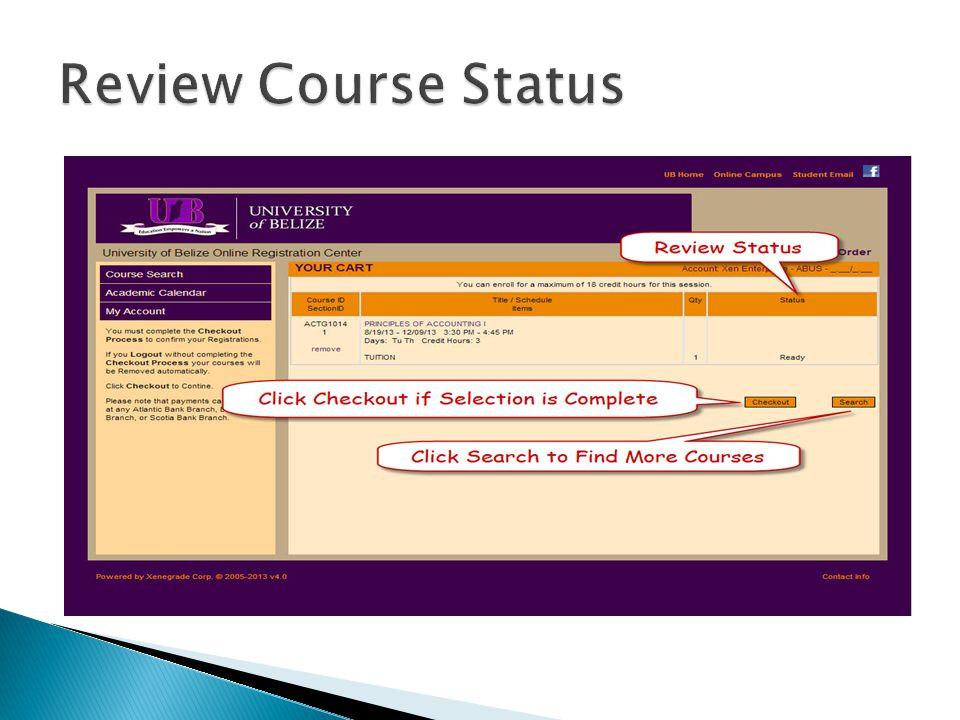 Review Course Status