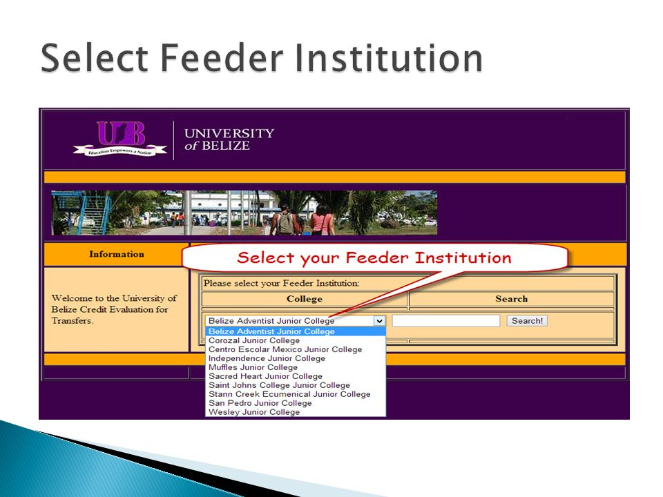 Select Feeder Institution