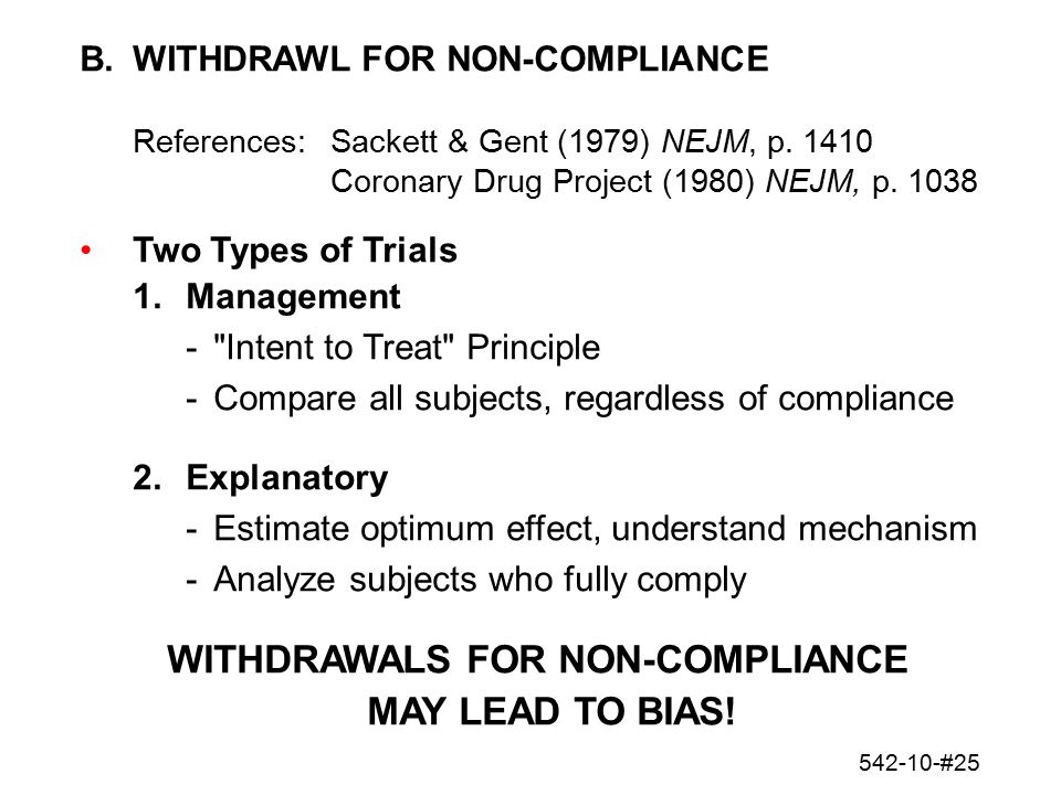 WITHDRAWALS FOR NON-COMPLIANCE