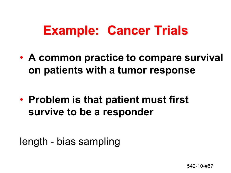 Example: Cancer Trials
