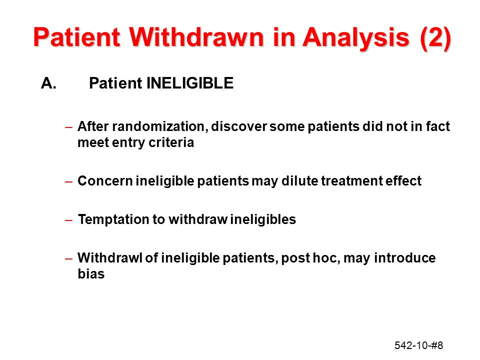 Patient Withdrawn in Analysis (2)