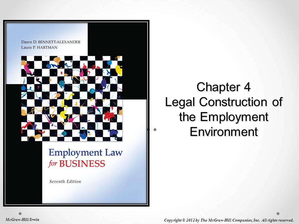 Chapter 4 Legal Construction of the Employment Environment