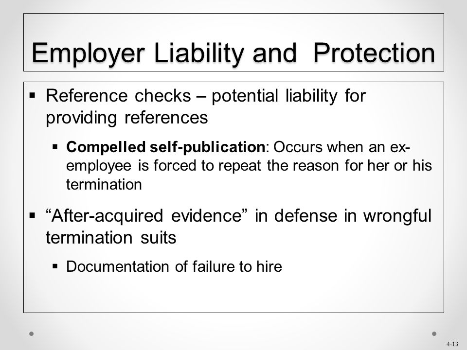 Employer Liability and Protection