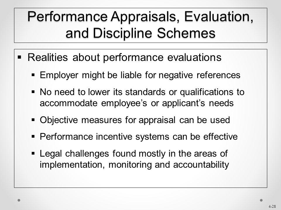 Performance Appraisals, Evaluation, and Discipline Schemes