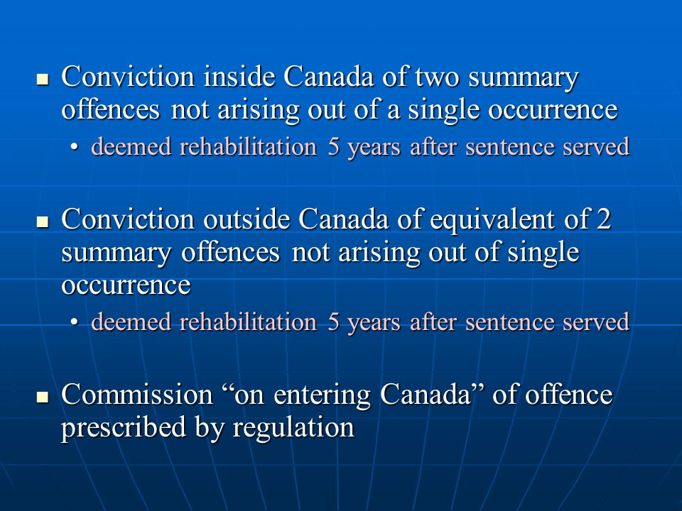 Commission on entering Canada of offence prescribed by regulation