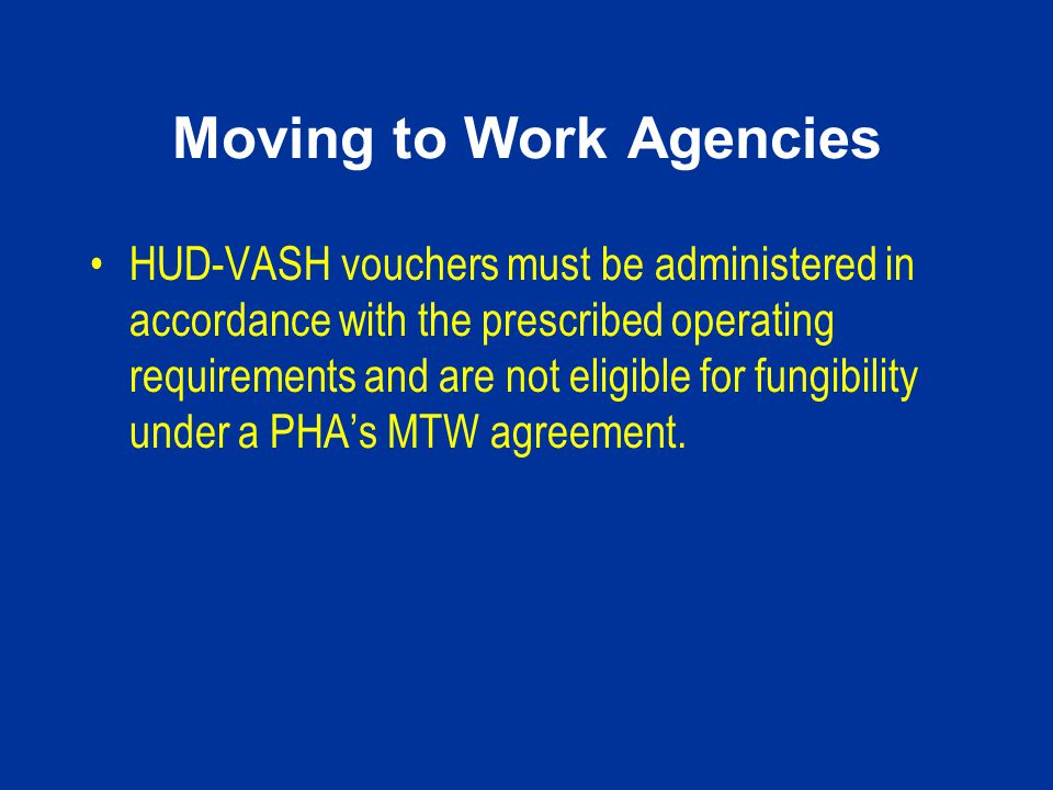 Moving to Work Agencies