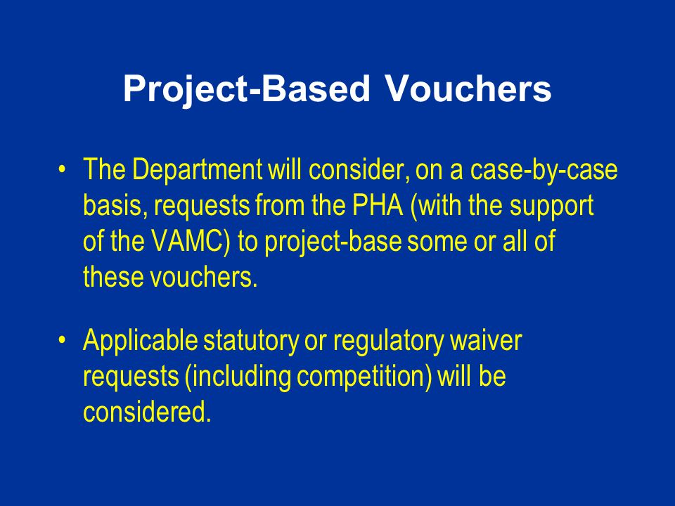 Project-Based Vouchers
