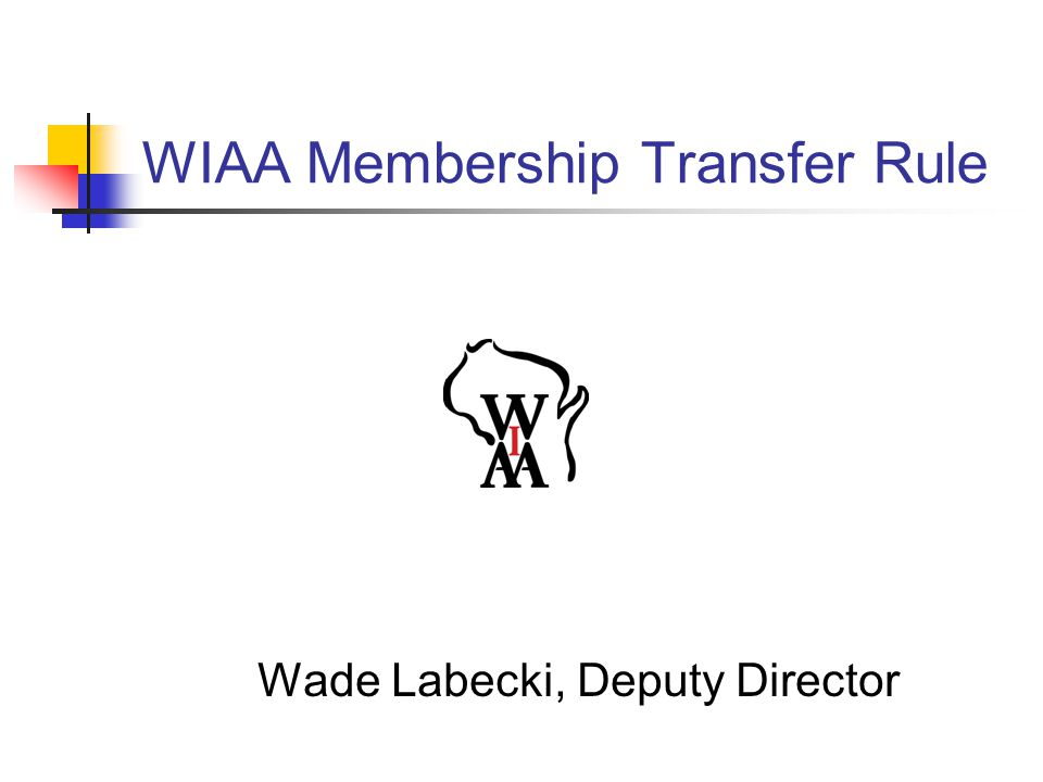 WIAA Membership Transfer Rule