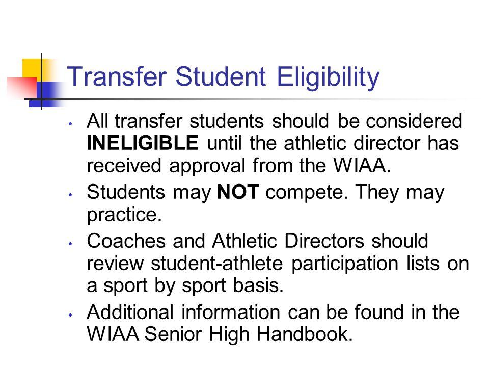 Transfer Student Eligibility