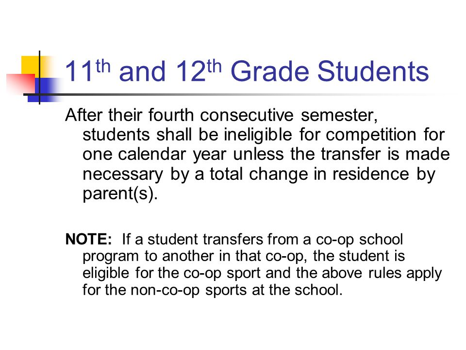11th and 12th Grade Students