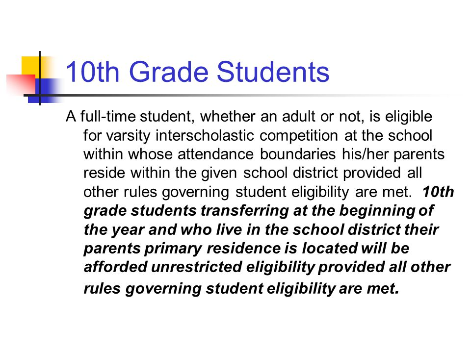 10th Grade Students