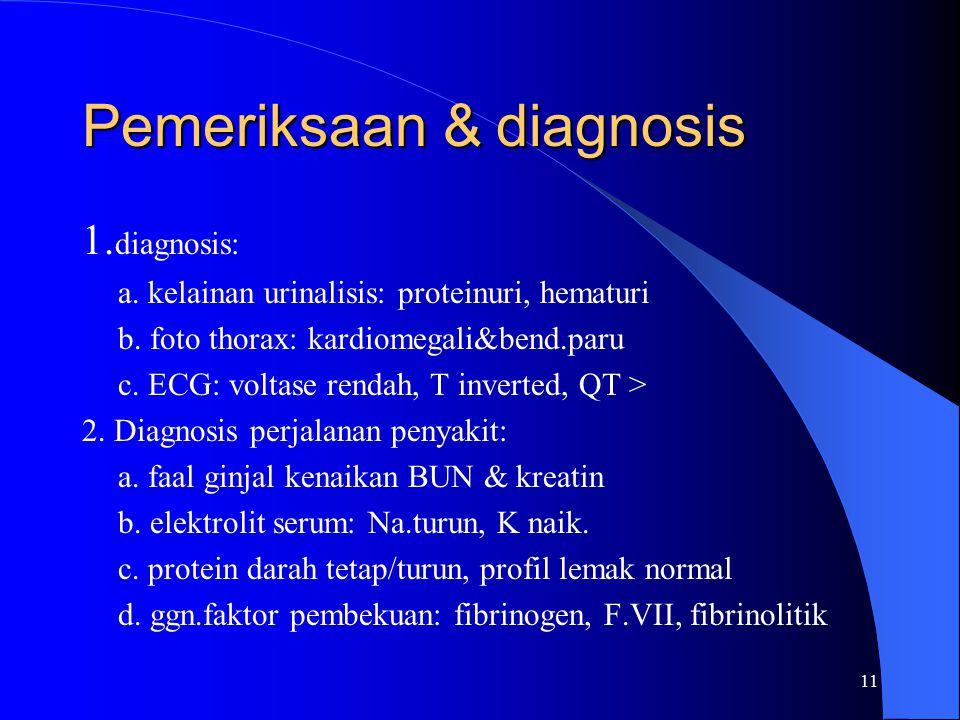 Pemeriksaan & diagnosis