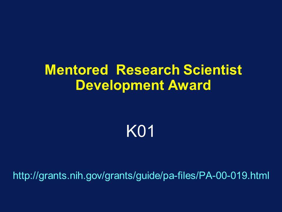 Mentored Research Scientist Development Award